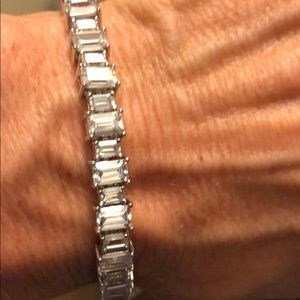 Jewelry - NWOT CZ tennis bracelet with rectangular baguettes
